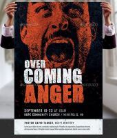 Overcoming Anger Church Flyer and Poster Template by Godserv