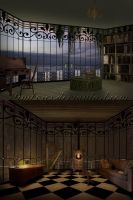 Library and music room by Simbores