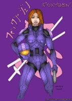 Female Spartan Colored by Artsta007