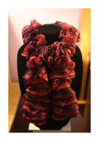 sashay red heart scarf ~ tango - SOLD by theyarnbunny