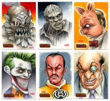 DC Supervillains Sketchcards by Erik-Maell