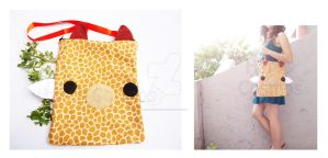 Giraffe Shoulder Bag by CosmiCosmos