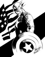 Captain America Digital Ink by Roderic-Rodriguez