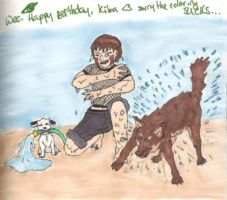 Happy Bday Kiba - Coloured by dani-jou