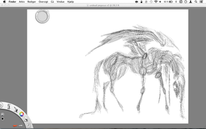 undead pegasus sketching by ProbablyThePenguin