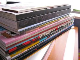 Nice Big Doujinshi Pile by BeckyHolly