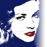 Lauren Bacall - Pop Art by davidiana