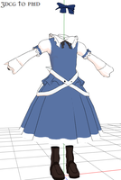 MMD- Dress set blu-DOWNLOAD by MMDFakewings18