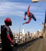 DEADPOOL VS THE AMAZING SPIDERMAN Live Action by Darth-Slayer