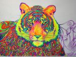 Psychedelic Tiger (WIP2) by nicostars