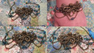 Depth's of the Ocean steampunk bracelet by assassin-kitty