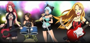 Bleach OC Rock Band - Ladies of the seireitei by FlyingDragon04