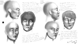 Korean Face Study by kurisutin
