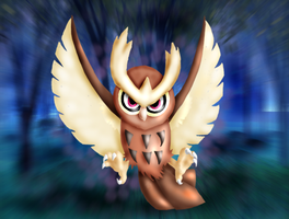 AC - Noctowl Art by nintendo-jr