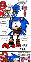 Sonic Boom - Shadow flaunts his clothes by HolderofTruth