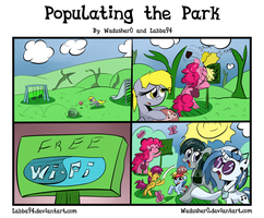 Populating the Park - Art Trade by Wadusher0