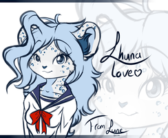 .:comm:. Lhuna love by LuneTheTiger