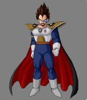 King Vegeta By KingCrackRock by kingcrackrock