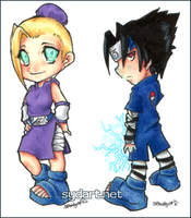 chibi Sasuke and Ino by shidonii