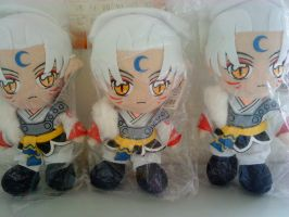 3 Sesshoumaru plushie arrived by icegirljenni