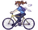 I want to ride my bicycle by SOLAR-CiTRUS