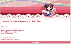 SMC: Sailor Mars Journal Skin by Meinona