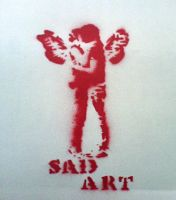 angel kiss stencil by TheInnocence