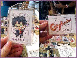 Harry Potter Keychain Commission by StarMasayume