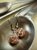 Cinnamon Roll Earrings by StrawberryGlitter-14