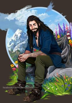 Dwarf of the Lonely Mountain by momofukuu