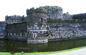 Beaumaris Castle outer keep wall by popicok