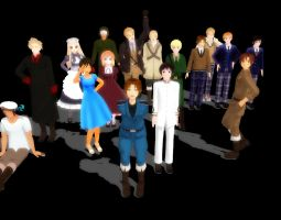 MMD all my hetalia models by desu-kuma
