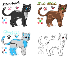 Kitty Adoptables - NO. 1 - [3/4 OPEN] by GrimsDale-Stiga