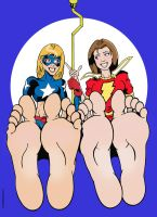 Stargirl and Mary Marvel commission by sandrock74