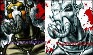 Krieg -Colored and Uncolored- by PurpleRAGE9205