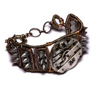 Steampunk Bracelet Spikes by CatherinetteRings