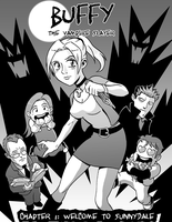 Vampire Slaying Manga Style by jmatchead
