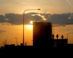 Chicago Sunset 2 by moonlightrose44