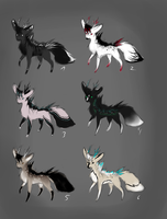 Canine deer adopts (points) by Psunna