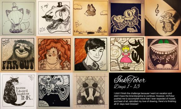 InkTober Compilation 2015 by rat-patooty