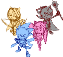 Sonic and Friends - Sketch by Inatervo