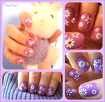 Spring Flower Nails by peachfan7