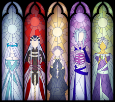 TE Artifact: Unathi Ruins Stained Glass by AealZX