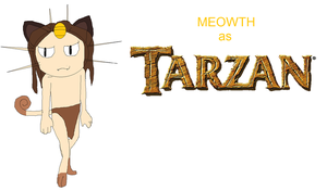 Meowth as Tarzan by EllentheApeGirl