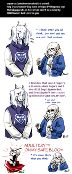 Undertale ask blog: adultery by JimPAVLICA