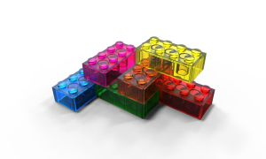 Rainbow Lego Blocks by all-one-line