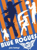 Arcadia: BLUE ROGUES POSTER by velancia
