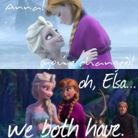 Elsa and Anna - We've Both Changed by AngelTrueSpirit