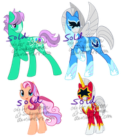 Sentai Pony Adoptables by Sakuyamon