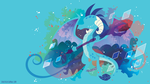 Princess Ember Silhouette Wall by SambaNeko